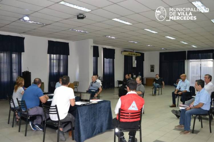 LA MUNICIPALIDAD DE VILLA MERCEDES CONFORMÓ EL COMITÉ SOCIAL PARA ACTUAR EN SITUACIONES DE EMERGENCIA